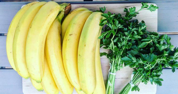 Banán zölddel kombinálva
