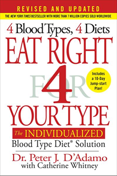 vércsoport szerinti diéta adamo könyv