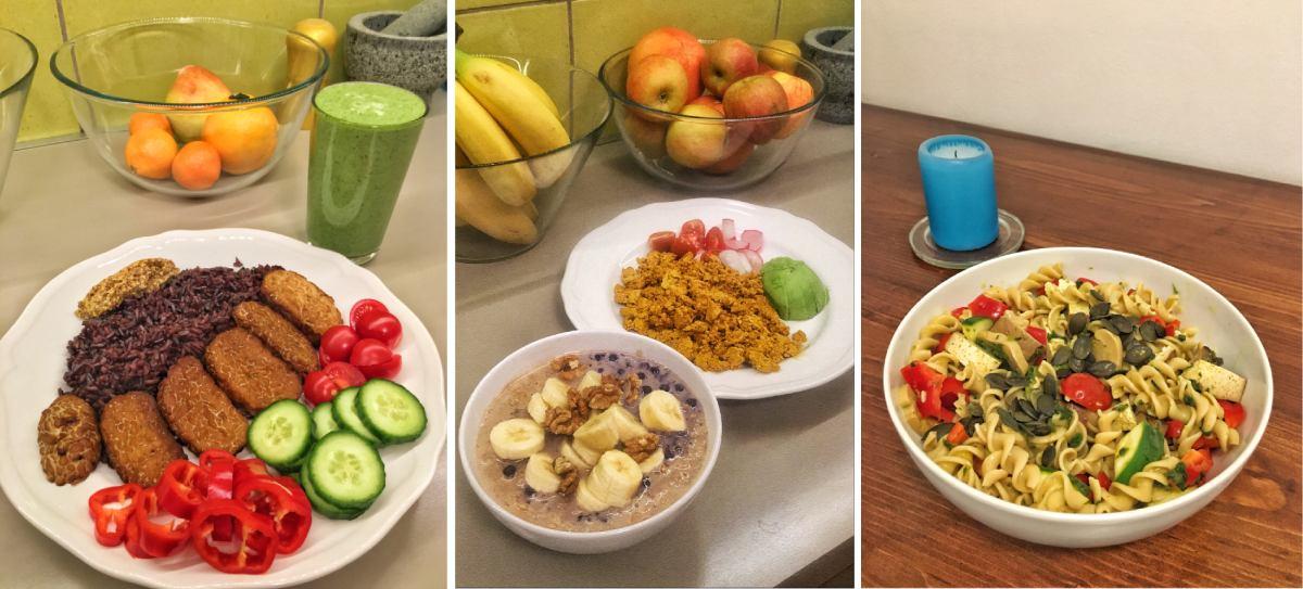 vegán étrend minta példák